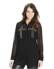 Cross Studded Shirt