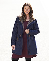 Fur Trim Parka Jacket