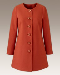 Collarless 60's Swing Coat