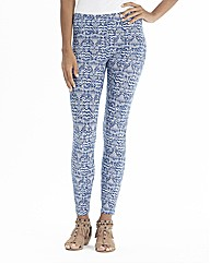 Blue Print Leggings