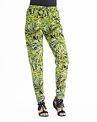 Jungle Print Trousers With Tapered Leg