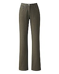Tall Khaki Coloured Skinny Jeans 32in