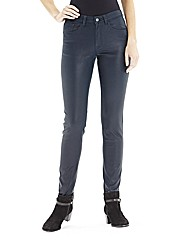 Lana Wet Look Skinny Jeans - Long