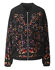 Mirrored Print Bomber Jacket