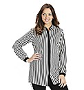 Stripe Contrast Placket Shirt