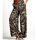 Print Palazzo Trousers Length 30in