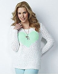 Chunky Knit Heart Jumper