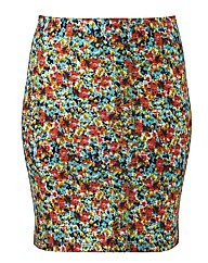 Ditsy Print Tube Skirt Length 19in