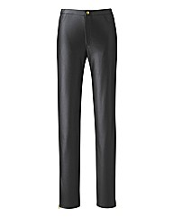 Tall PU Zip Detail Trousers