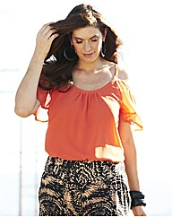 Cut Out Shoulder Blouse