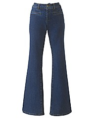 Stretchy Flared Jeans 31in