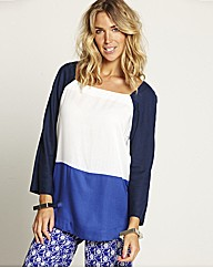 Colour Block Woven Top