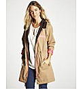 Parka Jacket with Contrast Trim