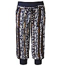 Crop Printed Harem Pants