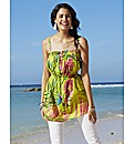Tropical Print Tunic Vest