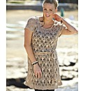 Knitted Tunic Dress with Tie Belt
