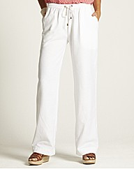 Linen Trousers with Drawstring Waist