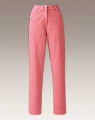 Coral Coloured Skinny Jeans 30in