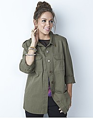 Military Cotton Shirt with Pockets