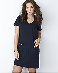 Ponte Stud Tunic Dress