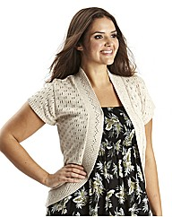 Crochet Look Shrug Longer Length