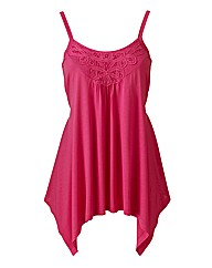 Aysemetric Lace Trim Camisole