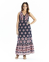Print Sleeveless Maxi Dress