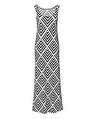 Tall Print Jersey Maxi Dress