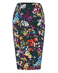 Helene Berman Midnight Flowers Skirt