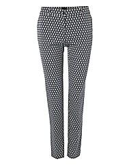 Ter De Caractere Jacquard Crop Trousers.