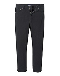 Jacamo Black Gaberdine Mens Jeans 33 In