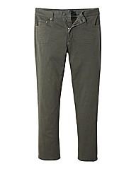 Jacamo Khaki Gaberdine Mens Jeans 27 In