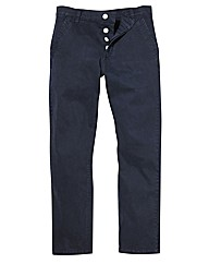 Jacamo Stretch Navy Chinos 35 Inch