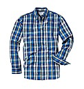 Jacamo Blue Check Shirt Regular