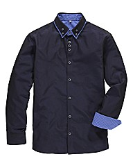 Black Label Cross Dye Pinto Shirt Long