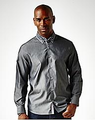 Black Label Cross Dye Pinto Shirt Long