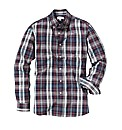 Jacamo Plum Check Shirt Long