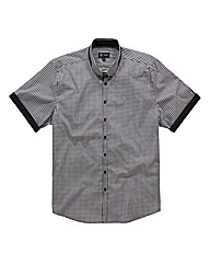 Black Label By Jacamo SS Gingham Shirt R