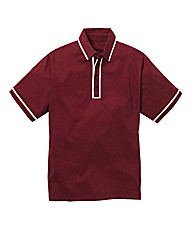 Jacamo Burgundy Piped Polo Long