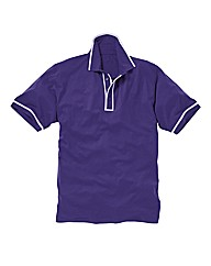 Jacamo Purple Piped Polo Long