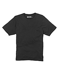 Jacamo Black Basic Crew T-Shirt Long