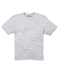 Jacamo Grey Marl Basic Crew T-Shirt Long