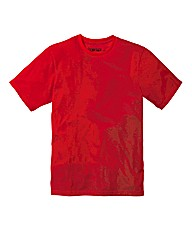 Jacamo Red Basic Crew T-Shirt Long