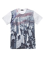 Label J Amercian City Flag T-Shirt Long