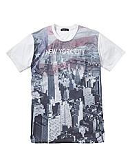 Label J Amercian City Flag T-Shirt Long
