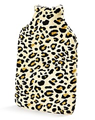 Hot Water Bottle Leopard Print Cover