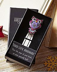 Jewelled Pewter Owl Bookmark