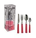 16 Piece Cutlery Set Red