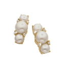 Gold-Plated Freshwater Pearl Earrings