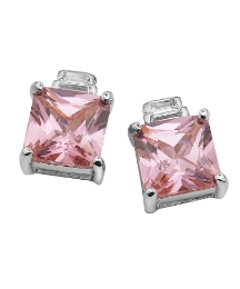 Pink & White Cubic Zirconia Earrings